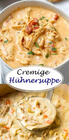 Creamy chicken soup - All Recipes Casserole Recipes, Soup Recipes, Dinner Recipes, Cooking Recipes, Creamy Chicken Casserole, Chicken Soup, Shrimp Soup, Seafood Soup, Good Food