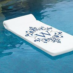 World's Finest Blue Float with Monogrammed Letter Print traditional swimming pools and spas