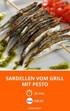Sardellen vom Grill mit Pesto