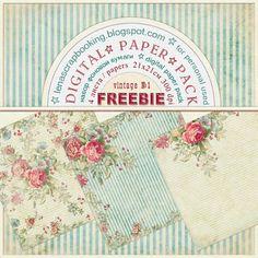 un pack de superbes papiers vintage de LenaScrapbooking...