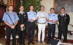 Napoli, il sindaco riceve due poliziotti della Repubblica popolare cinese