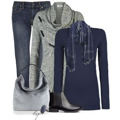 Blue & Silver, created by lagu on Polyvore