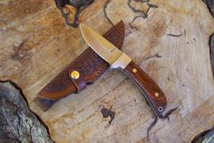 Drop Point Skinning Knife Fixed Blade Hunting by HbarNCraftworks