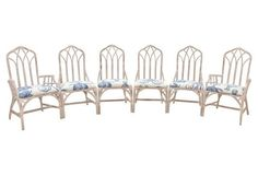 Henry Link Bamboo Dining Chairs, S/6