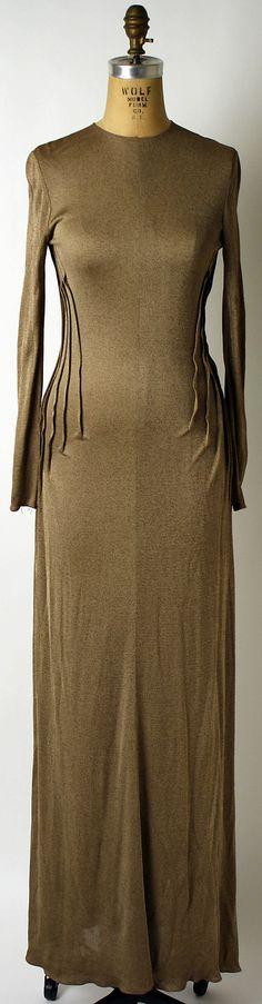 Geoffrey Beene, 1975 (I'm seeing influence from Schiaparelli's skeleton dress!)
