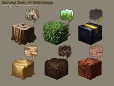 Material Study 4 by Mykamyu on DeviantArt Game Textures, Textures Patterns, Zbrush, Hand Painted Textures, Isometric Art, 3d Texture, Elements Of Art, Texture Painting, Texture Drawing