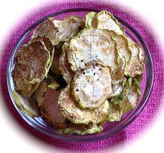 Pink-Vegan: Dried Zucchini Chips