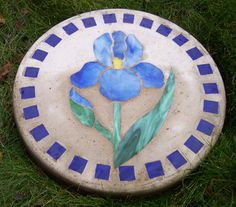 Stained Glass Stepping Stones | Stained glass artistry. - Dazzle Gardens Blog