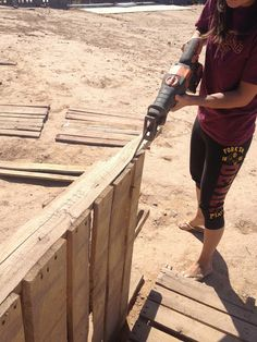"""Ever heard of the saying """"Pinterest made me do it?"""" Well, I feel like Devin and I both have been craving a good wood pallet project! A ..."""