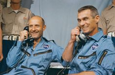 Tom Stafford and Gene Cernan. Stafford Air and Space Museum, Weatherford, OK Space Projects, Space Crafts, Eugene Cernan, Project Gemini, Project Mercury, American Space, Nasa History, Space Cowboys, Astronauts In Space