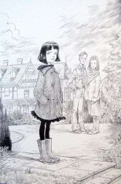 Coraline by Chris Riddell |||||| The illustrator i've looked up to since i found out about picture books!
