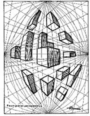 Four Point Perspective Perspective Drawing Lessons, Perspective Art, Painting Lessons, Art Lessons, Three Point Perspective, Perspective Photography, Family Photography, Plan Sketch, Sketches Tutorial