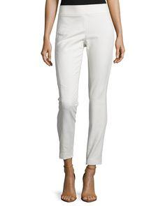 Skinny-Leg Riding Pants, Bone (Ivory), Women's, Size: 4 - Kaufman Franco