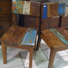 reclaimed wood chairs - Google Search