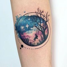 50 Gorgeous and Meaningful Tree Tattoos Inspired by Nature's Path cooles Aquarell Baum Tattoo © Tätowierer Yeliz Ozcan 💟💟💟💟💟 This. Trendy Tattoos, Cute Tattoos, Beautiful Tattoos, Body Art Tattoos, Space Tattoos, Owl Tattoos, Feminine Tattoos, Henna Tattoos, Lion Tattoo
