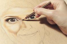 Artystyczne Ciekawostki Marcysibush: Jak Kolorować twarz Kredkami ?
