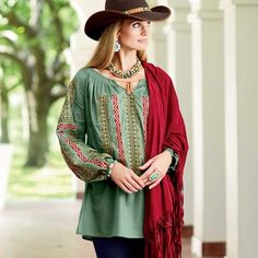 Varushka Blouse from Tasha Polizzi | King Ranch - #CowgirlChic