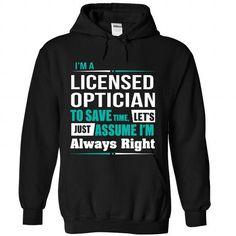 Licensed Optician - #tee verpackung #tee ideas. LOWEST PRICE => https://www.sunfrog.com/Funny/Licensed-Optician-1647-Black-Hoodie.html?68278
