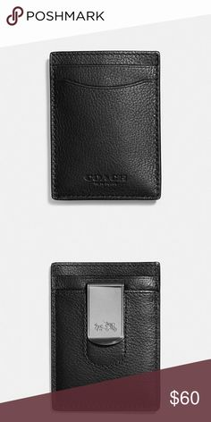"Boxed 3-In-1 Card Case In Smooth Leather Smooth calf leather  Credit card pockets  Money clip attached   3"" (L) x 4"" (H)  Packaged in a Coach gift box Coach Accessories Key & Card Holders"