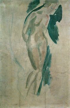 """Wilhelm Lehmbruck, """"Nude"""", 1913 on ArtStack Life Drawing, Nude, Drawings, Bodies, Artist, Artwork, Painting, Figurative, Painting Art"""
