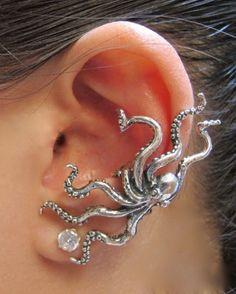 8e003c5d0 Octopus Ear Cuff Silver Cuff Jewelry, Jewelry Box, Nerd Jewelry, Silver  Jewelry,. Marty Magic Store