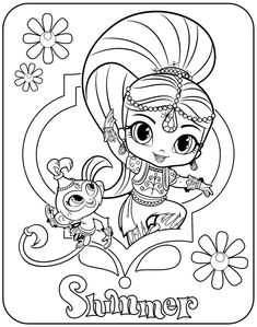 9 Best Ausmalbilder Shimmer And Shine Images Coloring Pages For