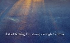 strong enough to break - hanson