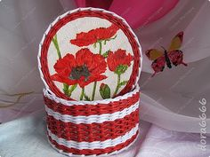 Поделка изделие Плетение Шкатулки шкатулочки Бумага газетная Трубочки бумажные фото 9