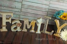 GroopDealz | Wooden Family Letters
