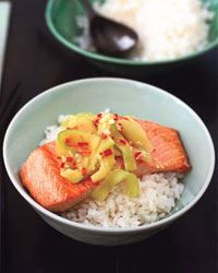 Salmon Rice Bowl with Ginger-Lime Sauce Recipe on Food & Wine