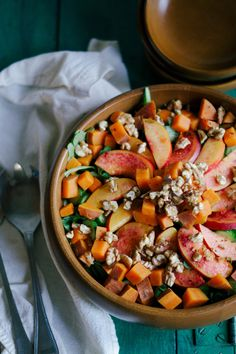 Nectarine + Sweet Potato Summer Salad w/ Garlicky Lime Dressing — Spice + Sprout