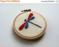 On Sale Tree hand embroidered home decor hoop art in by mlmxoxo