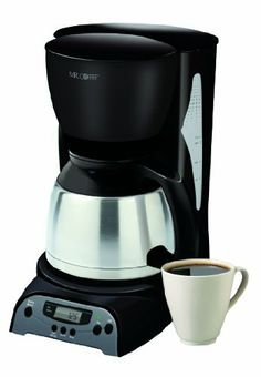 Mr. Coffee DRTX85 8-Cup Thermal Coffeemaker, Black - http://www.teacoffeestore.com/mr-coffee-drtx85-8-cup-thermal-coffeemaker-black/