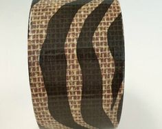 Zebra Print Duct tape, fashion duct tape, decorative tape, duct tape crafts, burlap duct tape, fashion duct tape by vickysjewelrysupply. Explore more products on http://vickysjewelrysupply.etsy.com