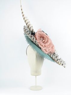 """Tousette """"x"""" Supernatural Style Sinamay Hats, Fascinator Headband, Fascinators, Arty Fashion, Estilo Fashion, Mother Of The Bride Hats, Fiesta Outfit, Fabric Headbands, Cocktail Hat"""