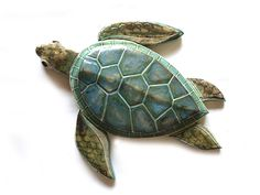 Sea Turtle, wall sculpture – Custom Order for Alan | 99heads