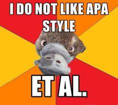 I do not like APA style et al.   Trust Psychology