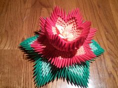 3d origami Lotus by akvees on Etsy