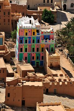 Colorful Building in Yemen. Join the SOYK project, our secret boards & take/launch your first geocaching challenge. See the board Somewhere Only You Know