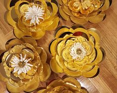 Paper Flower Template PDF digital