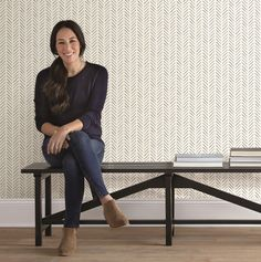 Magnolia Home by Joanna Gaines 56 sq. Pick-Up Sticks Wallpaper, Black Magnolia Home by Joanna Gaines 56 sq. Pick-Up Sticks Wallpaper - The Home Depot Stripped Wallpaper, Accent Wallpaper, Black And White Wallpaper, Peel And Stick Wallpaper, Living Room Wallpaper Accent Wall, Print Wallpaper, Office Wallpaper, Interior Wallpaper, Bedrooms