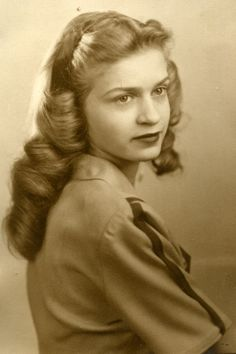Popular shoulder length hairstyle worn by teenagers, 1947. Description from pinterest.com. I searched for this on bing.com/images