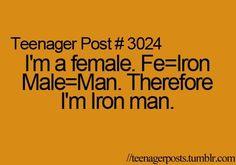 I'm iron man. U still wanna mess with me?