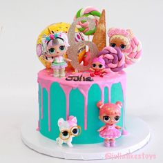 Another look at our gorgeous LOL Surprise ice cream cone drip cake! It was so hectic that day that I never got a better picture of Julia and the cake! Doll Birthday Cake, Funny Birthday Cakes, Birthday Parties, Lol Doll Cake, Surprise Cake, Ballerina Cakes, Doll Party, Lol Dolls, Diy Cake