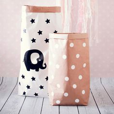 Бумажный крафт мешок для игрушек Paper craft bag for toys by StrawberryDecor on Etsy