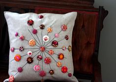 Inspiration! Carrie's Lollipops Pillow by pink chalk studio, via Flickr - Tula Pink Fabric