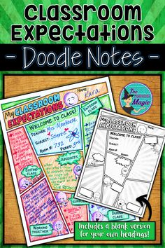 Looking for a fun way to introduce your new students to your classroom rules and expectations? This Classroom Rules and Expectations Doodle Note is the perfect way to get students actively engaged in your classroom, right from the first day! This product First Day Of School Activities, 1st Day Of School, Beginning Of The School Year, Social Studies Classroom, Classroom Rules, Chemistry Classroom, Classroom Ideas, Middle School Classroom, Middle School Science