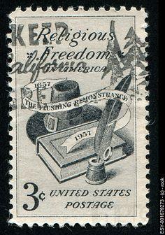 us postage stamp:  religious freedom.