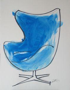 Jacobsen Egg Chair Art