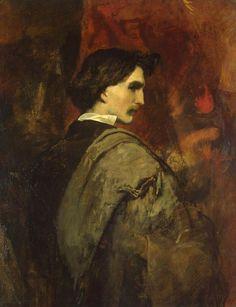 FEUERBACH, Anselm Friedrich Self-Portrait 1854-58 Oil on canvas, 92 x 73 cm The Hermitage, St. Petersburg